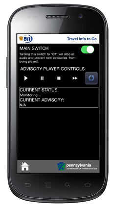 mobile advisory player screen